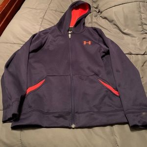 Boys youth med Under Armour zip hoodie